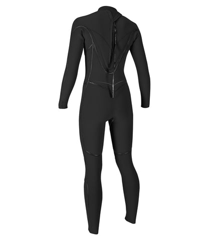 O'Neill Womens Psycho One 5/4MM BZ Full Wetsuit - Black