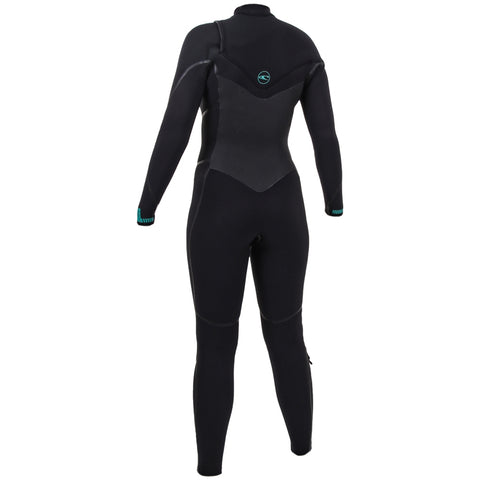 O'Neill Womens Psycho Tech 5/4mm Chest Zip Full Wetsuit - Black