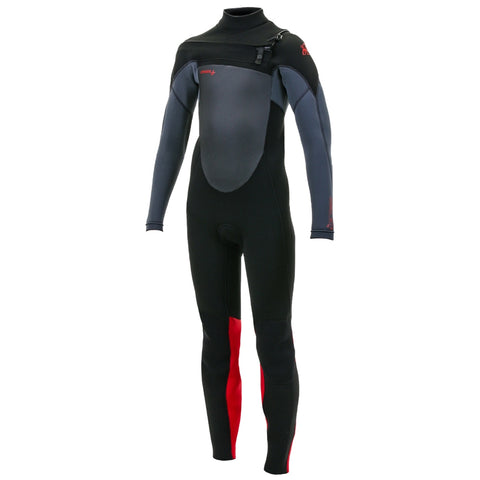 O'Neill Youth Epic 5/4mm Chest Zip Full Wetsuit - Black/Graphite