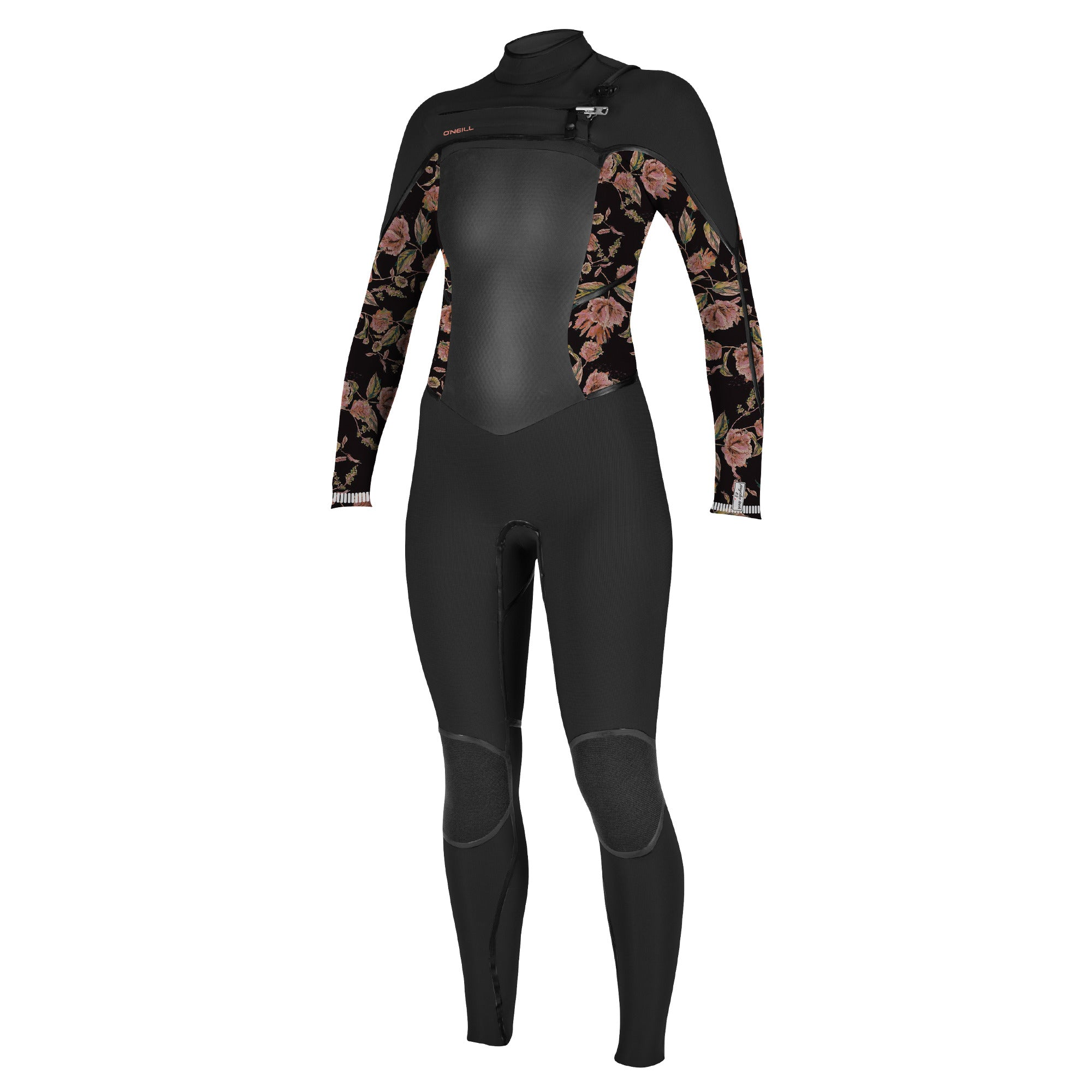 O'Neill Womens Psycho Tech 4/3mm Chest Zip Wetsuit - Black Flow