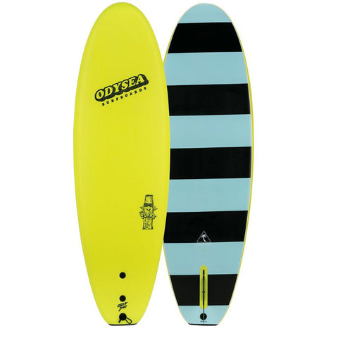 ODYSEA Plank 6'0 Soft Single Fin Surfboard - Lemon Yellow