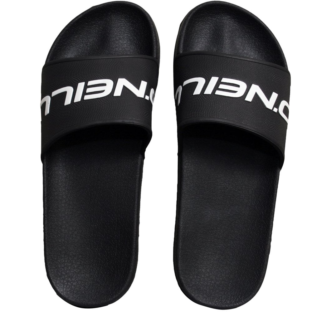 O'Neill Slide Logo Sandals - Black Out
