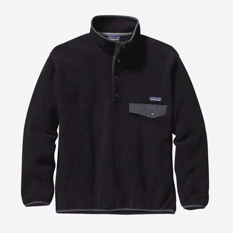 Patagonia Synchilla Snap-T Pullover - Black With Forge Grey