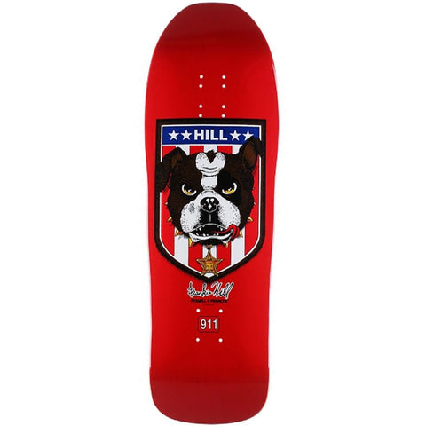 Powell Peralta Frankie Hill Bulldog Red Skateboard Deck