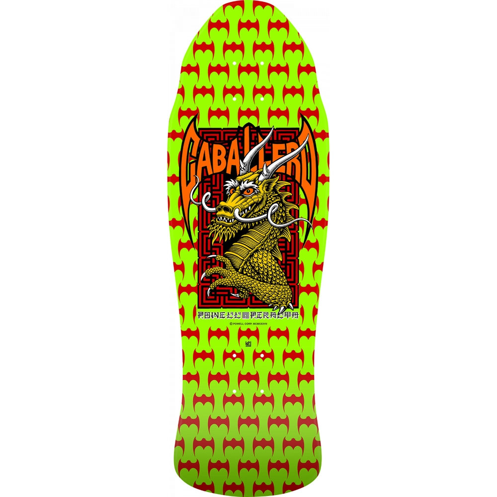 Powell Peralta Caballero Street Deck - Lime 9.625""