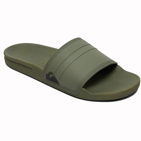 Quiksilver Rivi Slide Sandals - Green/Green/Black