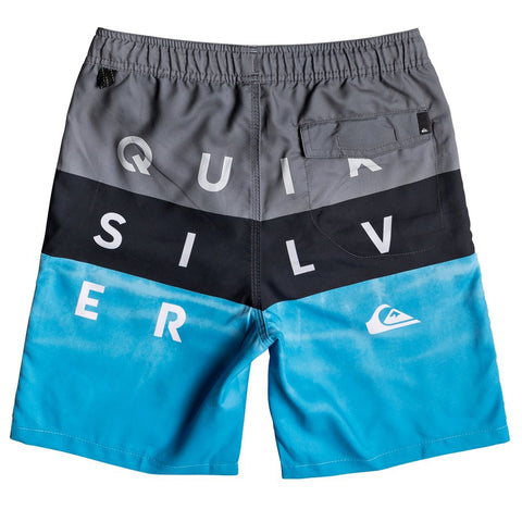 Quiksilver Boys Word Block Volley Youth 15 Boardshorts