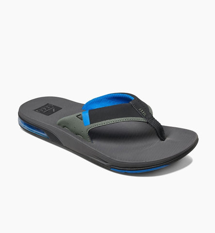 Reef Fanning Low Flip Flops Grey/Blue