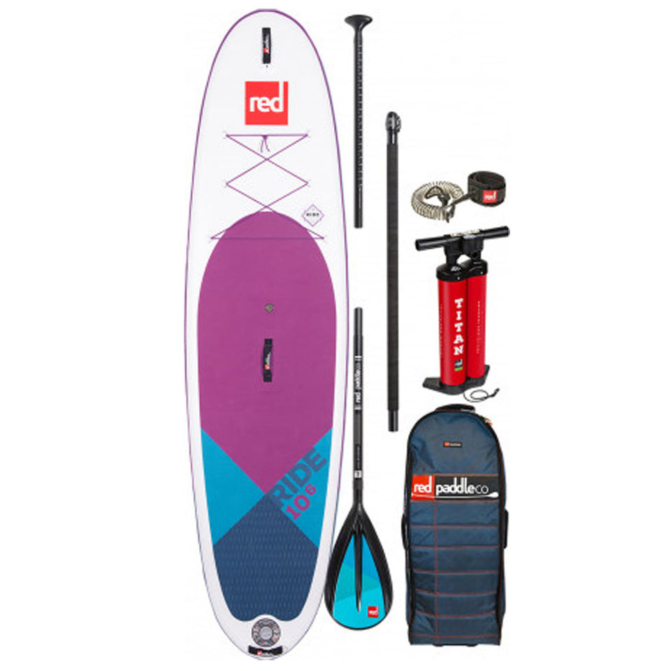 Red Paddle Ride 10'6 Inflatable Paddle Board Purple With Carbon Nylon Paddle  - 2020