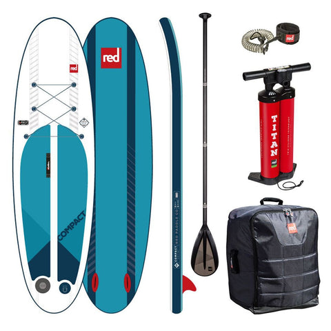 Red Compact 9'6 Carbon Paddle Stand Up Paddle Board Package