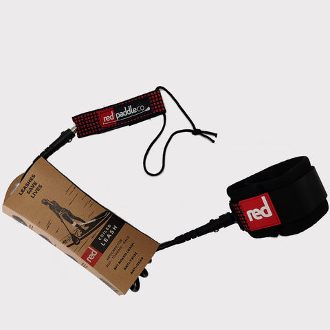 Red Stand Up Paddle Board Coiled Leash