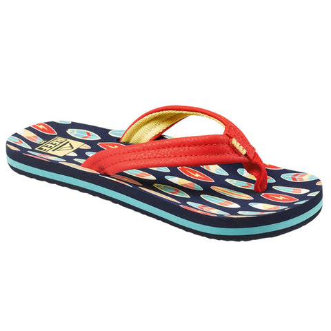 Reef Boys Ahi Flip Flops - Red Surfer