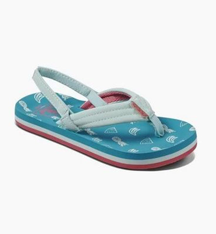 Reef Girls Little Ahi Flip Flops  - Fruits