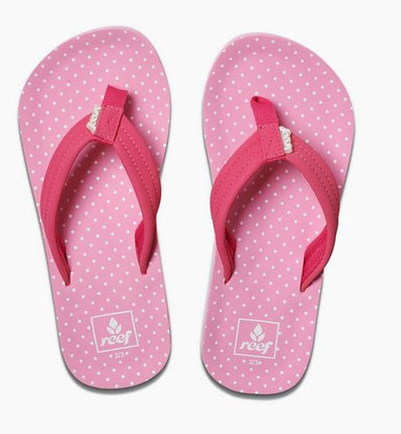 Reef Girls Little Ahi Flip Flops  - Polka Dot