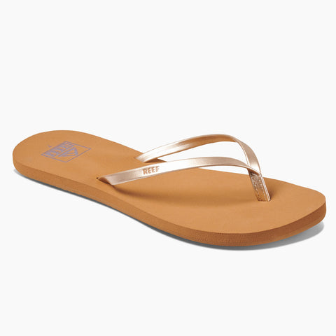 Reef Womens Bliss Nights Flip Flops - Tan/Champagne