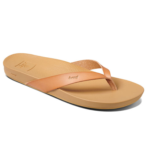 Reef Womens Cushion Bounce Court Flip Flops - Natural