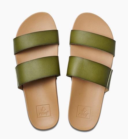 Reef Womens Cushion Bounce Vista Sandals - Olive