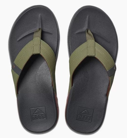 Reef Cushion Bounce Phantom Flip Flops - Olive Red