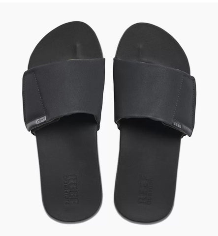 Reef Cushion Bounce Slide Sandals  - Black