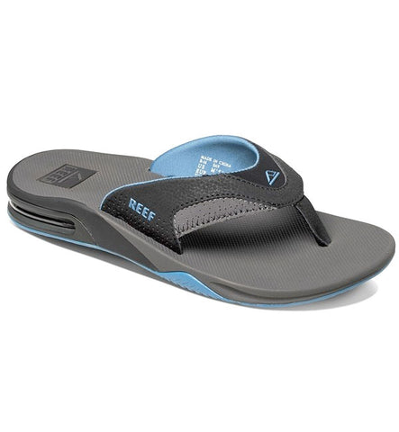 Reef Fanning Flip Flops - Grey/Light Blue