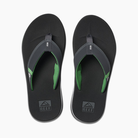 Reef Fanning Low Flip Flops - Black/Green