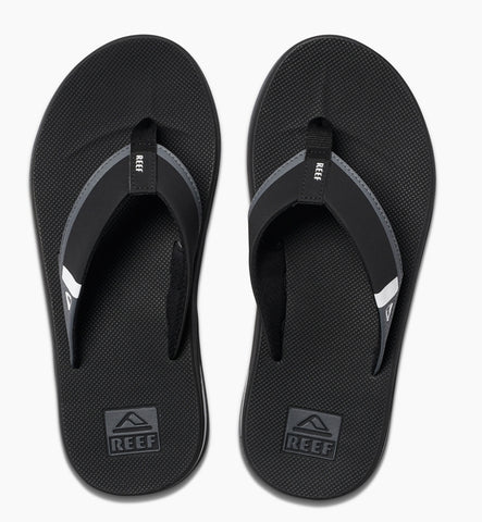 Reef Fanning Low Flip Flops  - Black/White