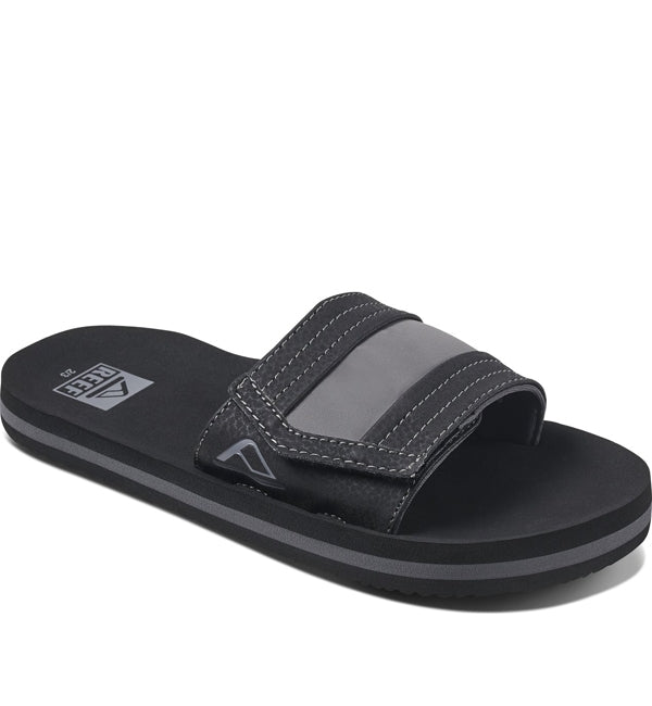 Reef Boys Ahi Slide Sandals  - Black