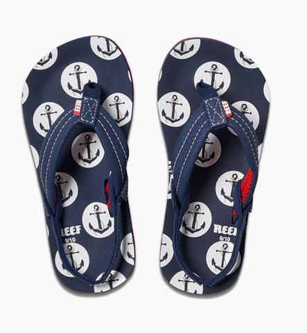 Reef Boys Little Ahi Flip Flops - Anchors