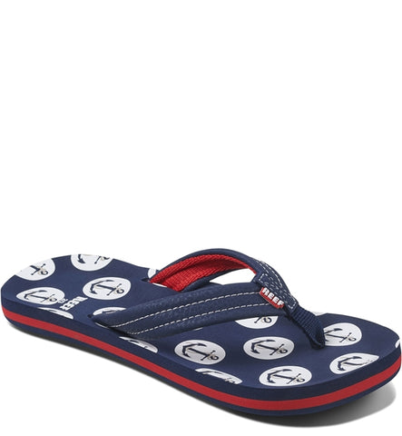 Reef Boys Ahi Flip Flops  - Anchors