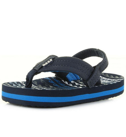 Reef Boys Little Ahi Flip Flops - Water Blue