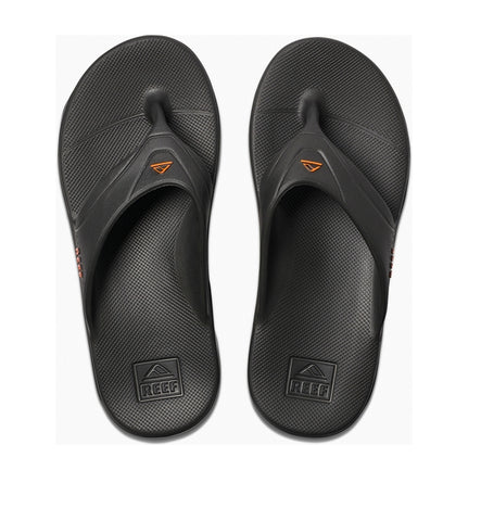 Reef One Flip Flops - Grey/Orange