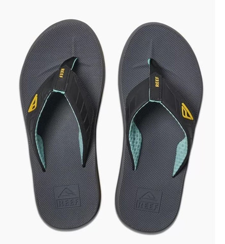 Reef Phantoms Flip Flops - Aqua/Yellow