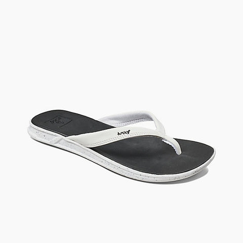 Reef Rover Catch Pop Flip Flops - Black/White