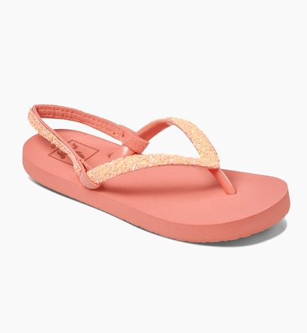 Reef Girls Little Stargazer Flip Flops - Coral