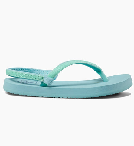Reef Girls Little Stargazer Flip Flops - Teal