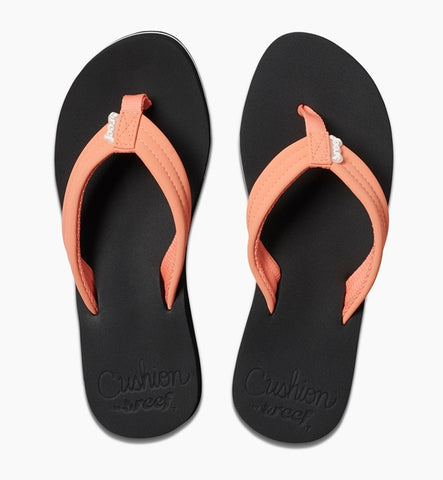 Reef Womens Cushion Breeze Flip Flops - Coral
