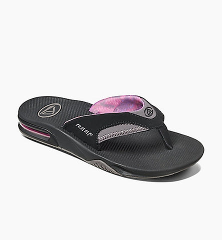 Reef Fanning Flip Flops - Black/Grey