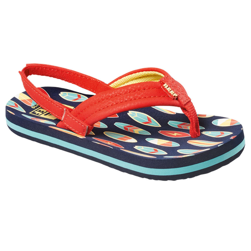 Reef Boys Little Ahi Flip Flops - Red Surfer