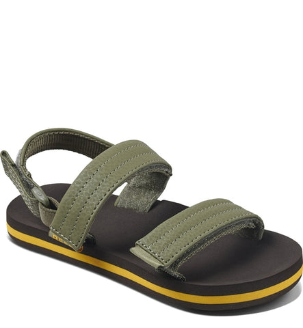 Reef Little Ahi Convertible Sandals  - Brown/Olive