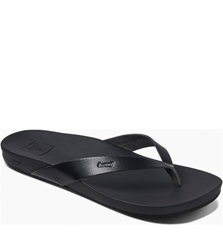 Reef Womens Cushion Bounce Court Flip Flops - Black
