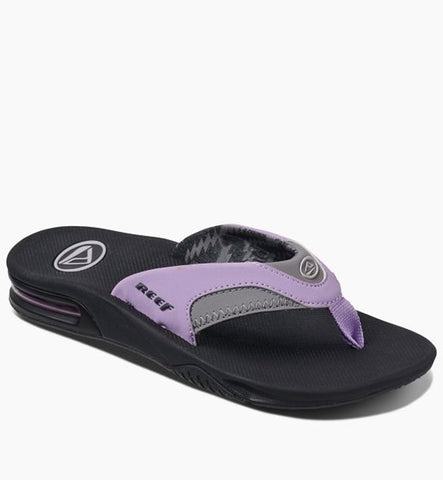 Reef Womens Fanning Flip Flops - Grey/Purple