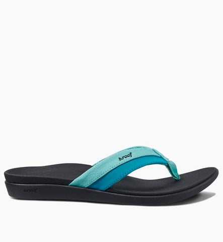 Reef Womens Ortho-Bounce Coast Flip Flops - Aqua