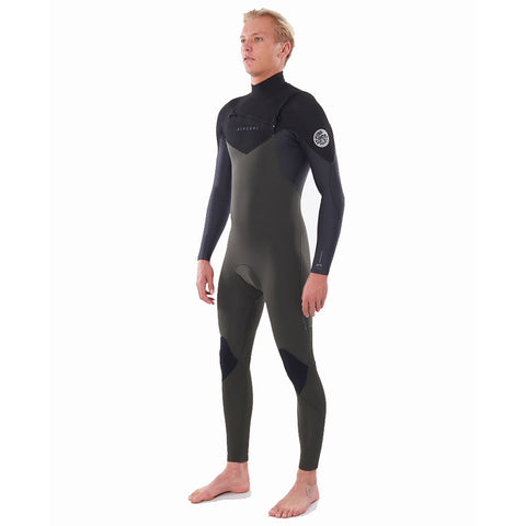 Rip Curl Dawn Patrol 5/3mm Chest Zip Winter Wetsuit - Dark Green