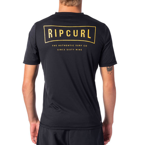 Rip Curl Driven Short Sleeved Surflite UV Tee - Black