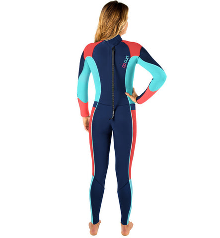 Rip Curl Womens Dawn Patrol 4/3mm Back Zip Wetsuit - Navy