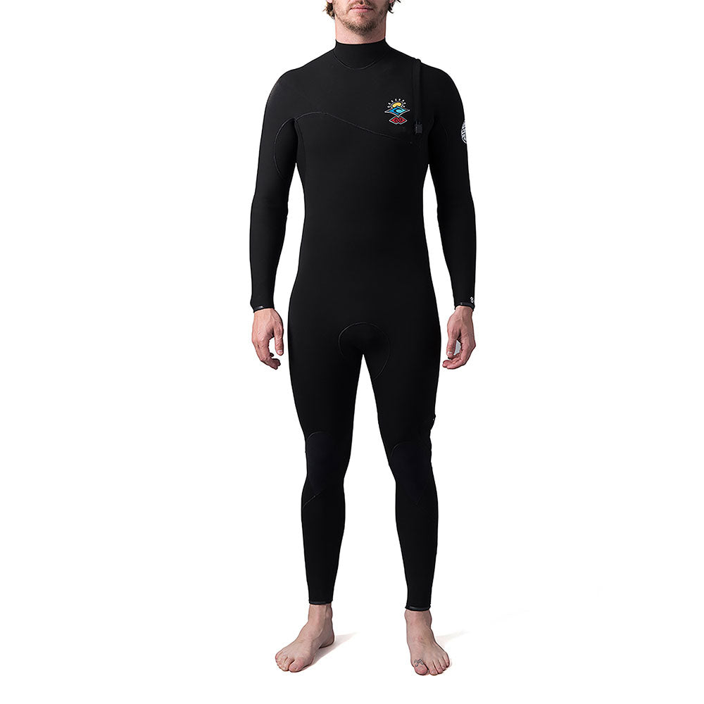 Rip Curl E-Bomb 3/2mm Zip Free Full Wetsuit - Black