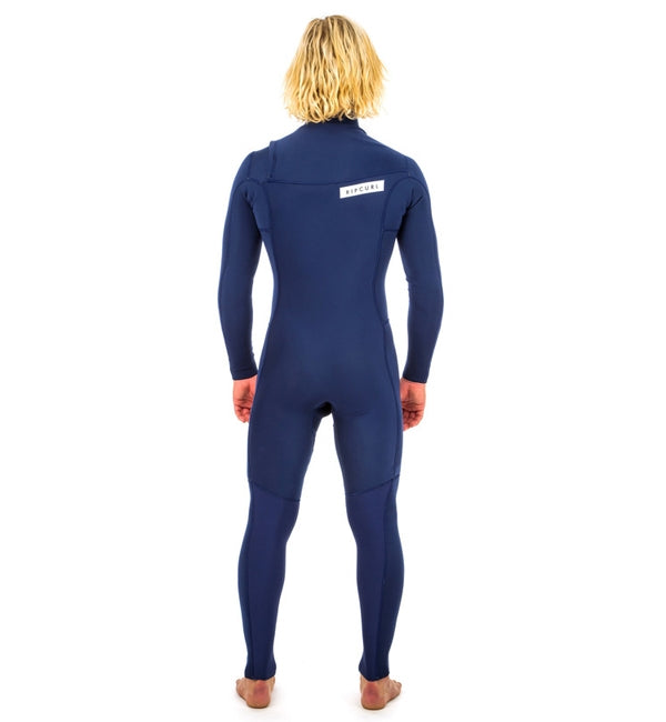 Rip Curl Aggrolite 3/2 Chest Zip Full Wetsuit - Navy