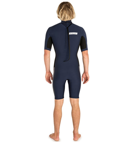 Rip Curl Aggrolite 2mm Back Zip Shortie Wetsuit - Navy/Black