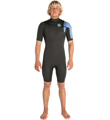 Rip Curl Aggrolite 2mm Chest Zip Shortie Wetsuit - Teal