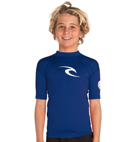 Rip Curl Boys Corpo Hi Neck Short Sleeved Rash Vest